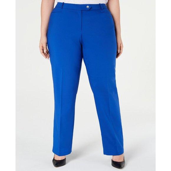 Calvin Klein Pants - Calvin Klein Plus Size Woven Modern Fit Dress Pant